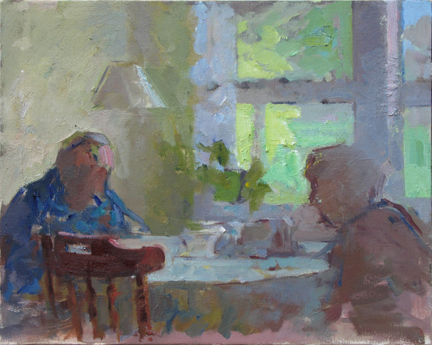 Grandparents at a Table