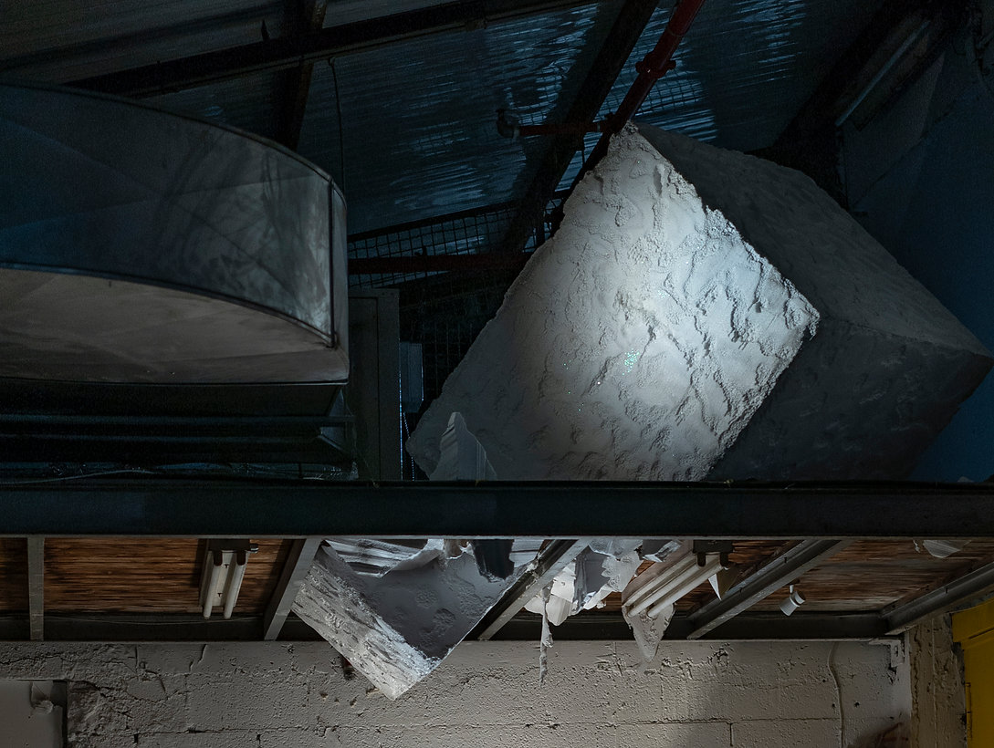 Contemporary art installation by Elena Ceretti Stein iceberg Hamekarer Mezeg Ra