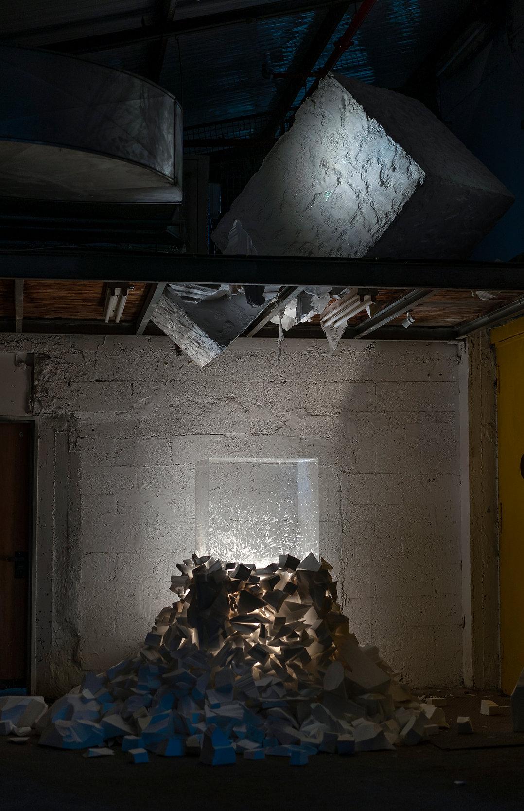 Elena Ceretti Stein Installation Exhibition contemporary art Hamekarer Gallery Mezeg Ra Bad Weather Temper Tel Aviv