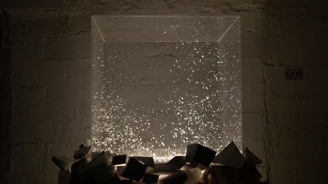 Contemporary art installation by Elena Ceretti Stein in Hamekarer Mezeg Ra