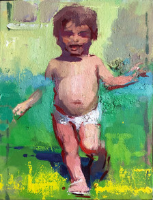 Running Child Study. Green and Red