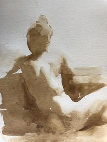 Seated Sepia Nude