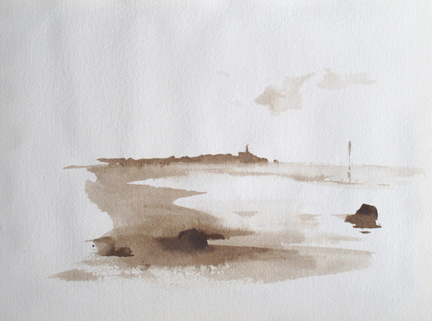 Sea Study - Sepia