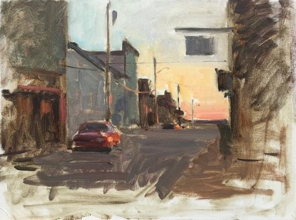 Street Cars Sunset