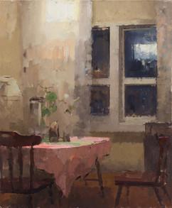 Window-Table. Nighttime