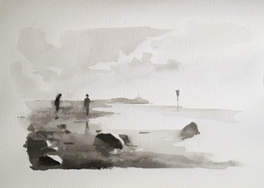 Sea Study. Two Figures