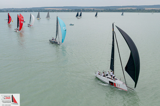 Two light wind races on the first day
