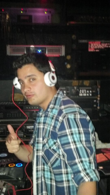 DJ'ing at the 1st Club I worked at