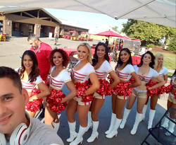 DJ'ing the 49ers Red Zone Rally