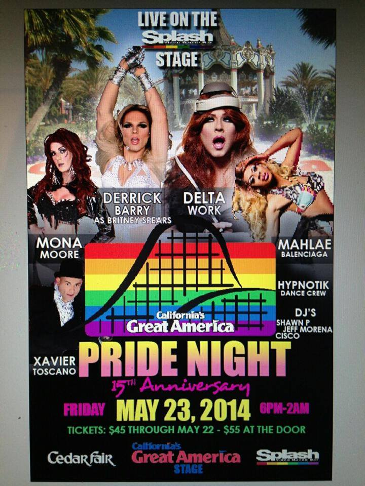 Name on banner for Pride Night