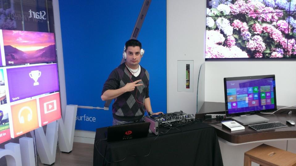DJ'ing for a Microsoft Store Event