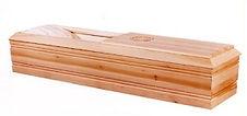 Jewish Funeral Home Westchester New York - LS 11 Unstained Poplar Wood Casket $1795.00