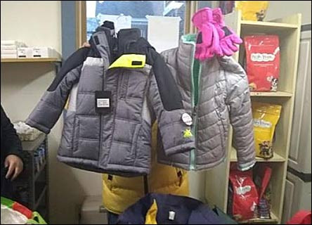 Sunday School Winter Clothing Drive - over 50 Winter Coats provided to those in need!