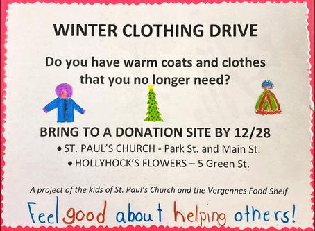 Sunday School Winter Clothing Drive