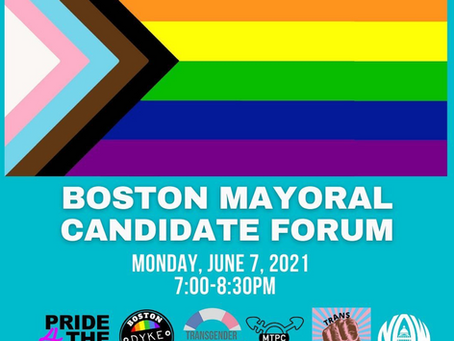 Trans Resistance MA to Host Mayoral Candidate Forum on June 7