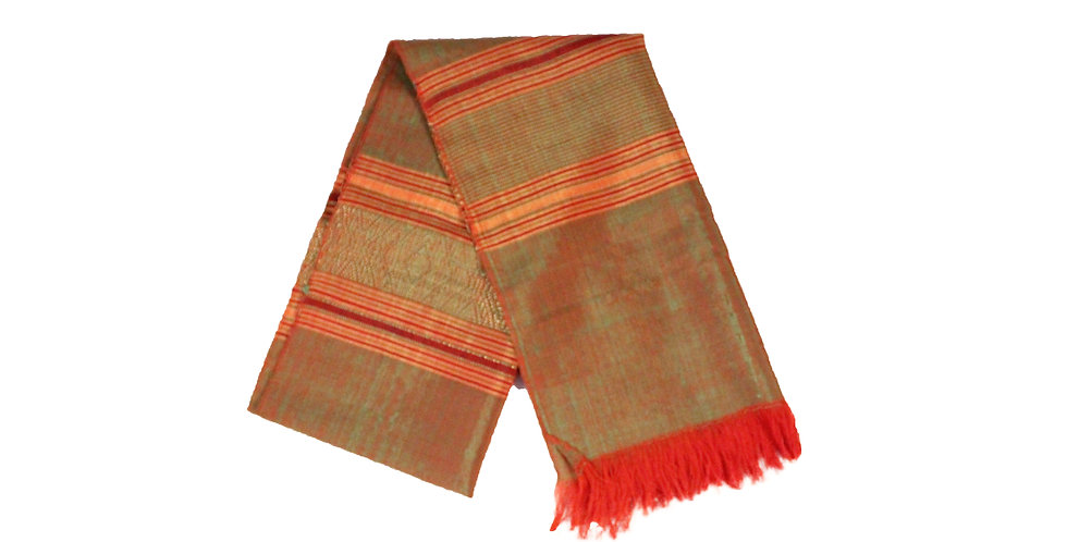 Two-Tone Red and Green Silk