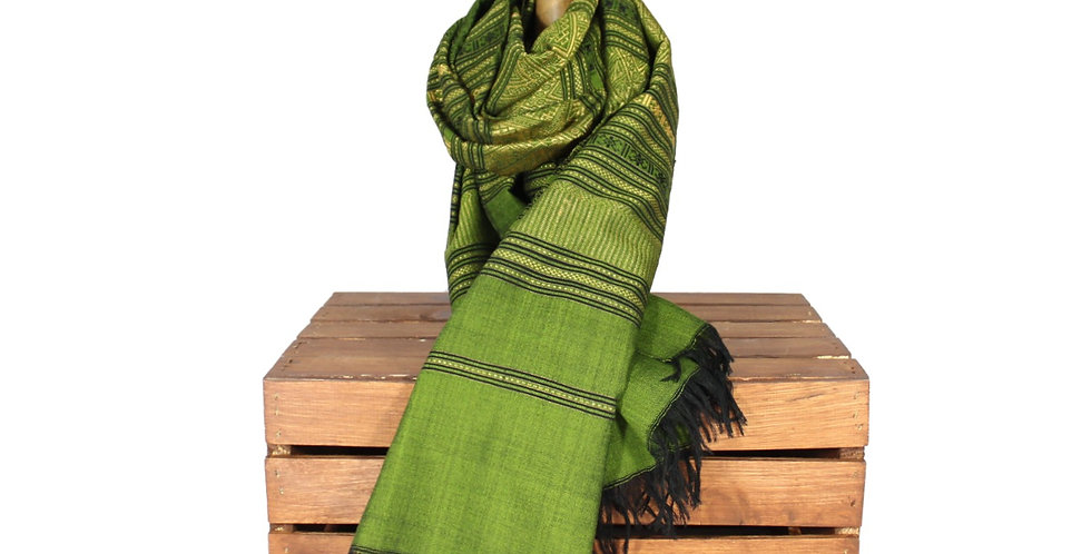 Green Oversized Silk