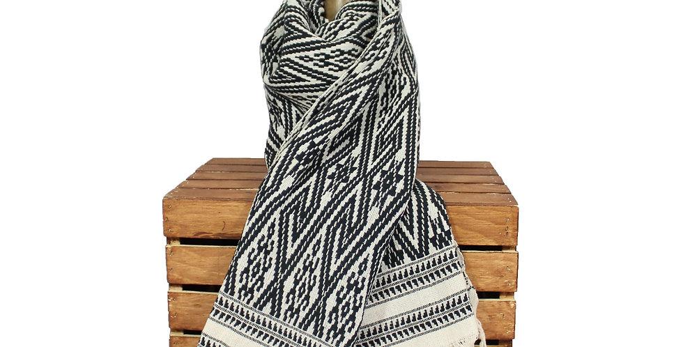Black Cotton Blanket Scarf