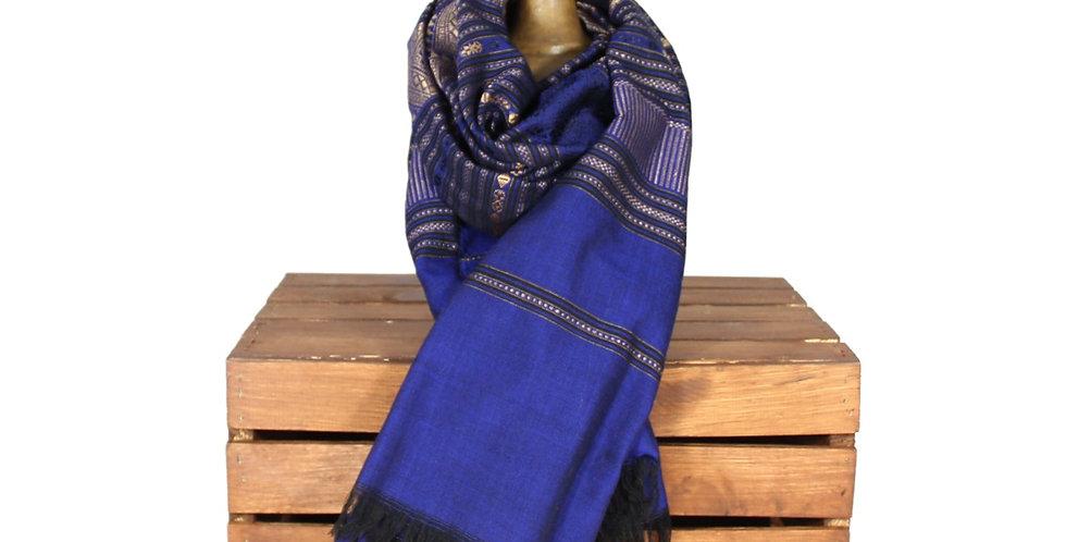 Blue Oversized Silk