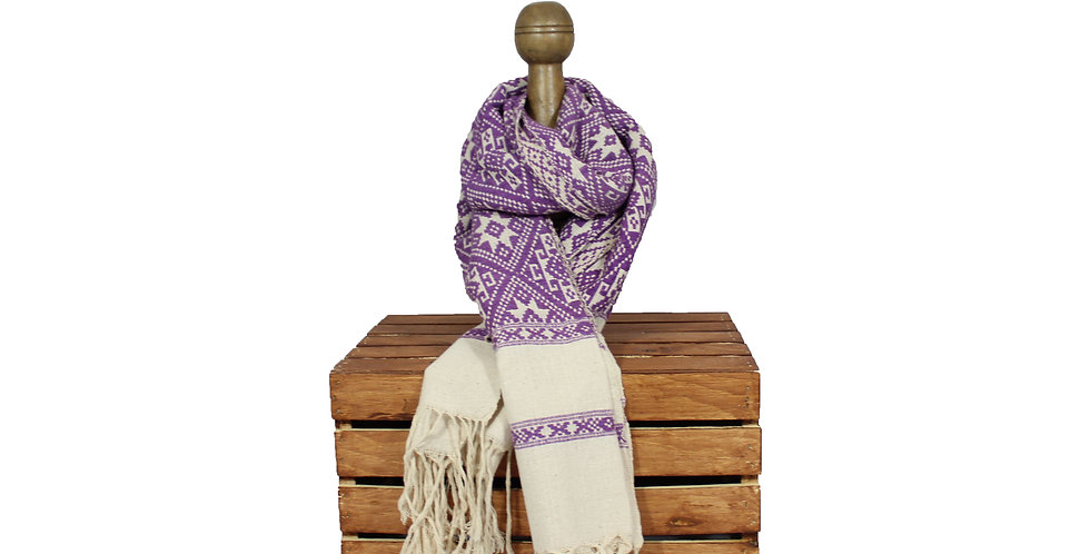 Magenta Cotton Blanket Scarf