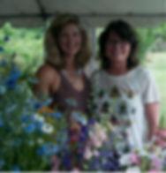 Local flowers cut at Land's Sake organic farm, weston, MA