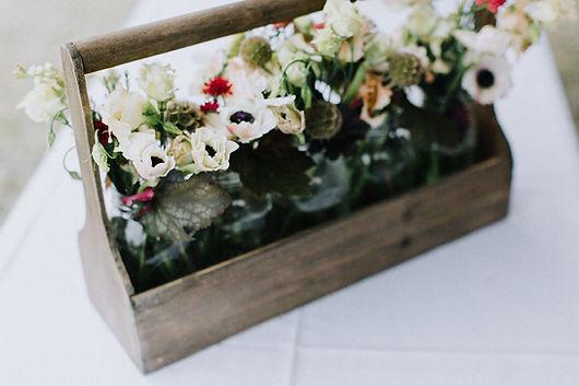 Panda anemone rustic Maine wedding