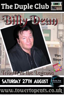 Billy Dean 27th Aug Duple Club
