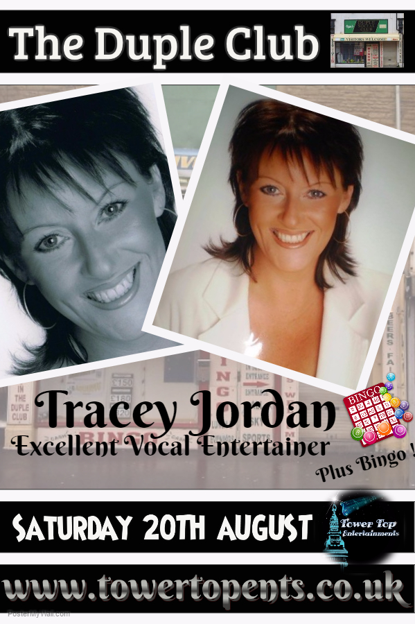 Tracey Jordan 20th Aug