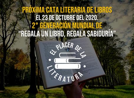 """2º Cata literaria de libros """"El placer de la literatura"""" Regala un libro, regala sabiduría"""