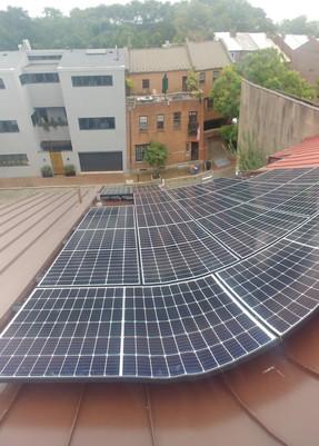 Rowhome Solar Panel Installation