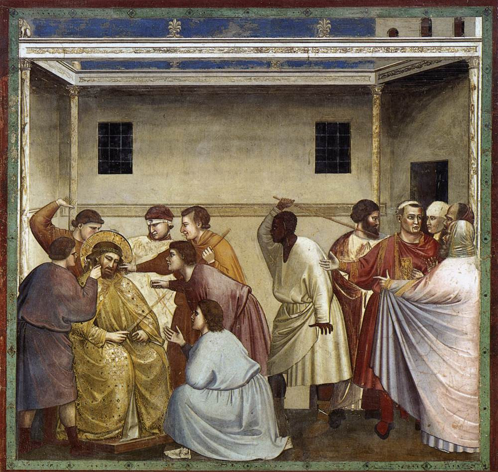 Giotto di Bondone: The Mocking of Christ