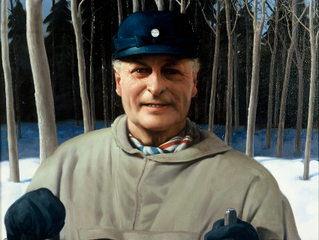 Jan's portrait of HM King Olav V of Norway on display at Haugar Vestfold Art Museum