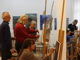 Høstens malerkurs på Sagene er nå i gang! Tirsdager fra kl 11-17