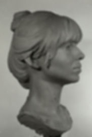 Portrait of Liv by Jan Valentin Saether. Bust. Clay