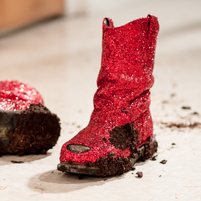 Ruby Red Steel Toe Boots