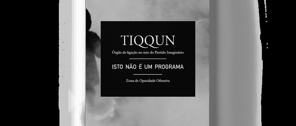 """capa do livro """"isto não é um programa"""" do coletivo e revista francesa Tiqqun"""