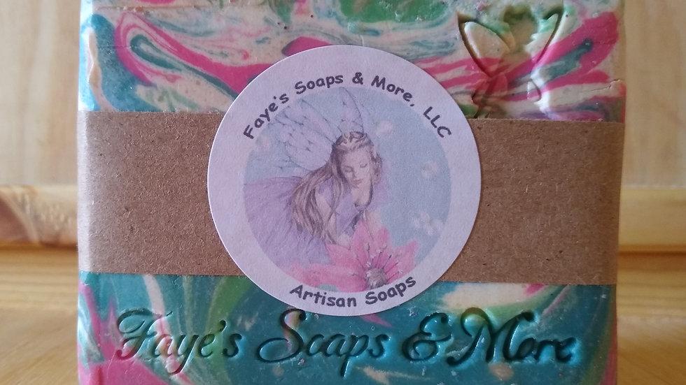 Coconut Oil Free Fairy Swirl Soap