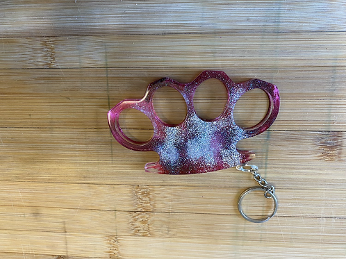Self-defense knuckles key chain