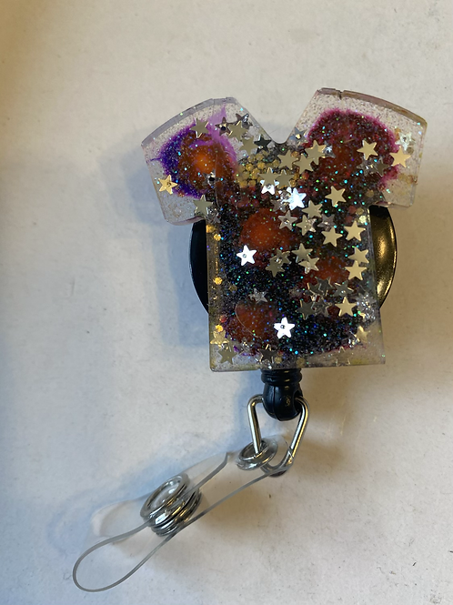 Scrub top badge holder