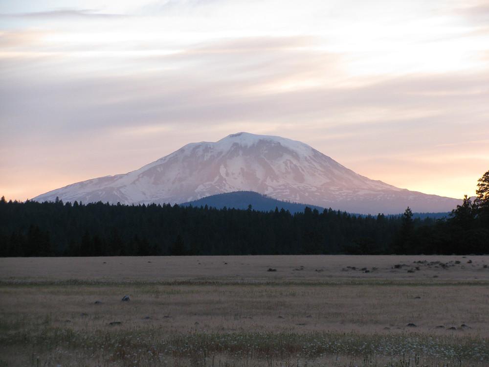Mt Adams and Whiskey Jim Flats