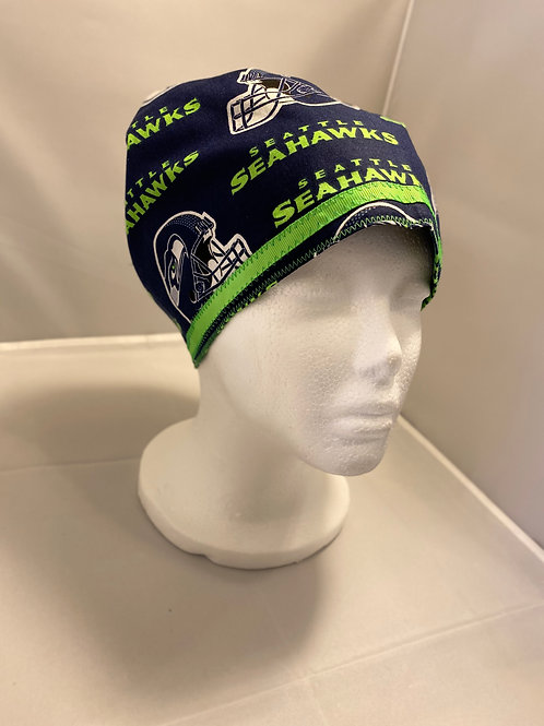 Ladies Tie-Back Seahawks Scrub Cap