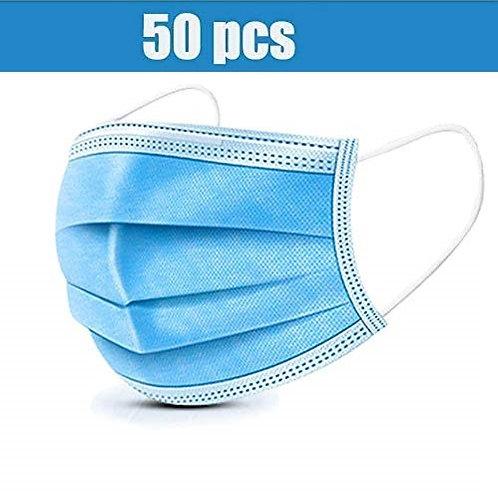 50PK Soft & Comfortable Three Layer Disposable Mask