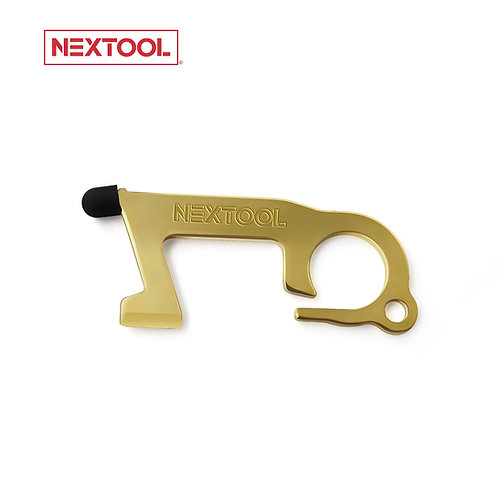 Brass Copper Antimicrobial Multi-Tool: No Touch Contactless Door Opener