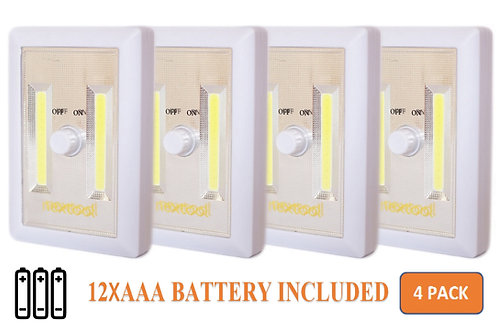 nextool® Battery Powered LED Light with Dimmer (4-pack)