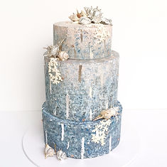 modern beach coastal wedding cake perth