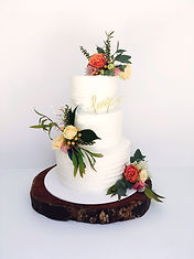 Soft brushed rustice wedding cake perth