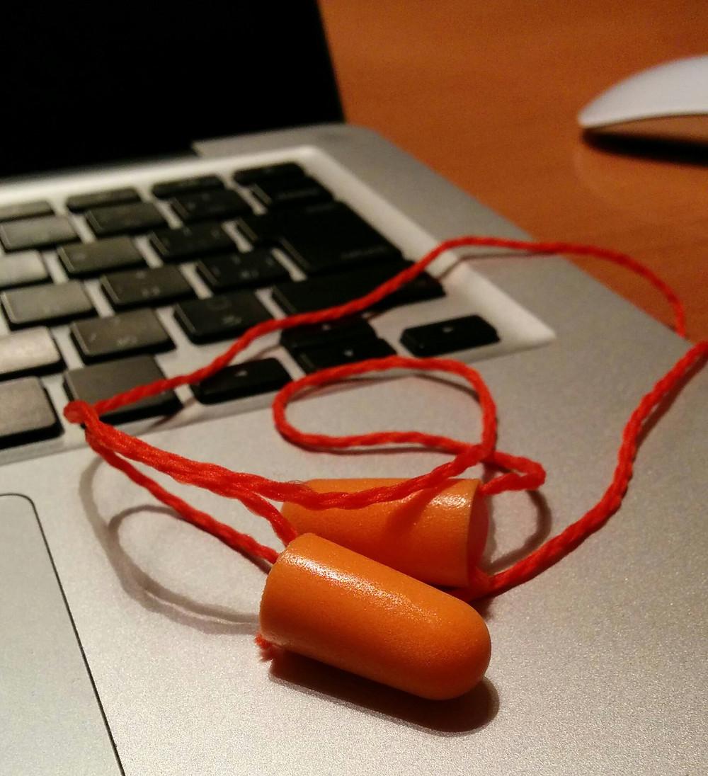 実際の耳栓です
