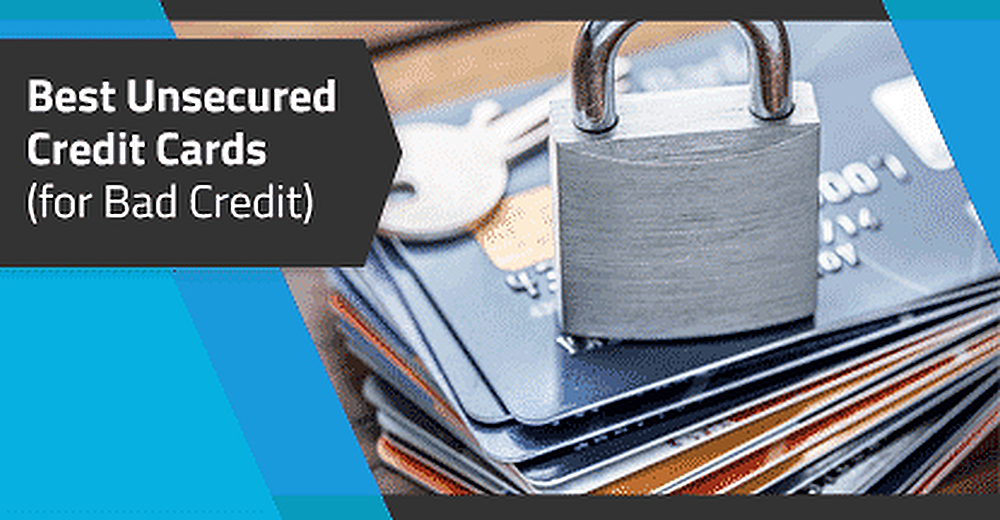 Unsecured Credit card with bad credit