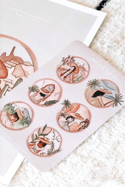 Stickers Latin Woman 1