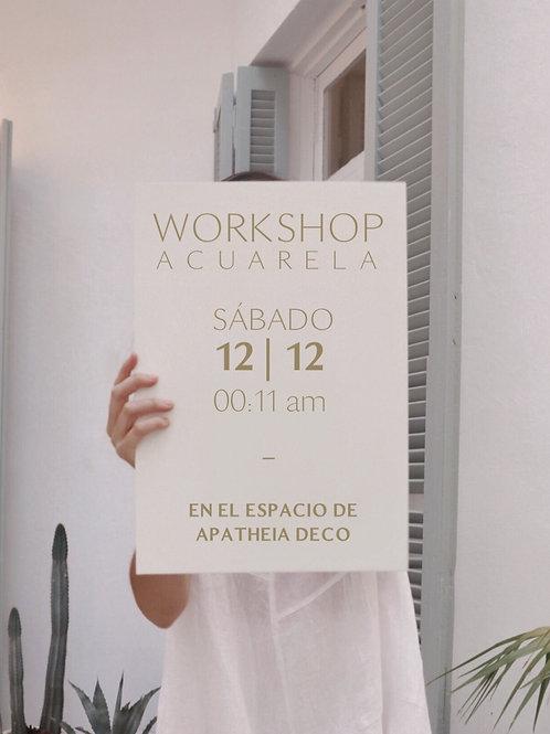 WORKSHOP | Acuarela 12/12